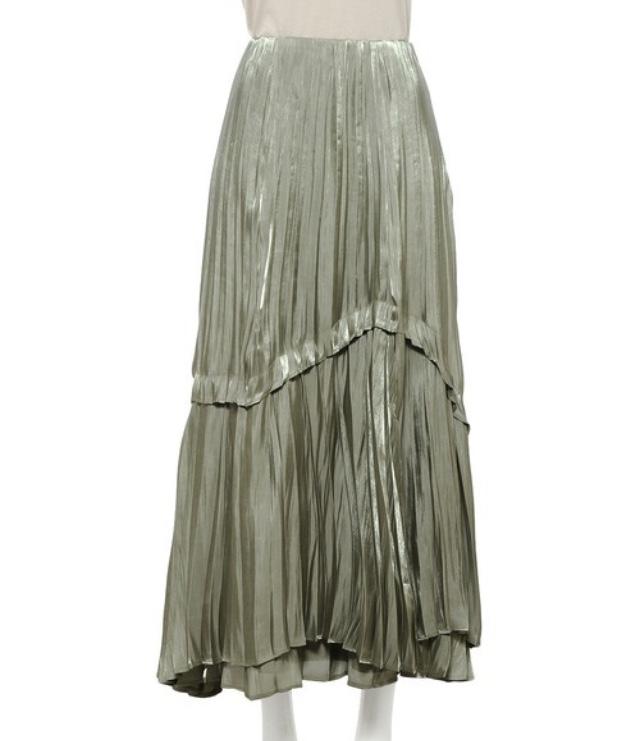 snidelのシャイニープリーツスカート