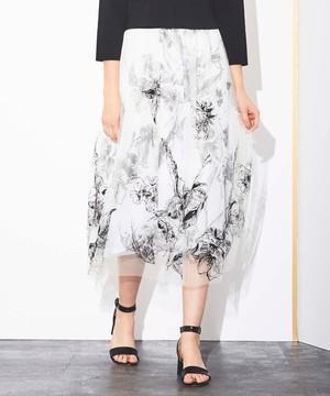 芸能人がFNN Live News αで着用した衣装スカート、ニット