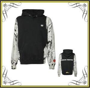 HERON PRESTONのCAT PATCH COTTON JERSEY HOODIE