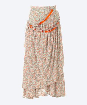 芸能人が王様のブランチで着用した衣装スカート、ブラウス